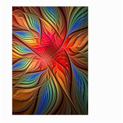 Vintage Colors Flower Petals Spiral Abstract Large Garden Flag (two Sides) by BangZart