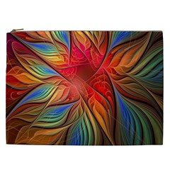 Vintage Colors Flower Petals Spiral Abstract Cosmetic Bag (xxl)  by BangZart