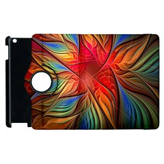 Vintage Colors Flower Petals Spiral Abstract Apple Ipad 2 Flip 360 Case by BangZart