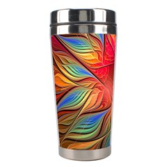 Vintage Colors Flower Petals Spiral Abstract Stainless Steel Travel Tumblers by BangZart