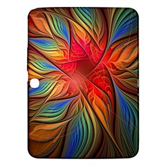 Vintage Colors Flower Petals Spiral Abstract Samsung Galaxy Tab 3 (10 1 ) P5200 Hardshell Case  by BangZart