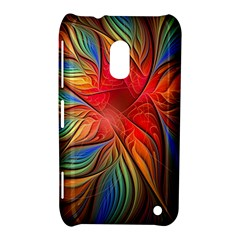 Vintage Colors Flower Petals Spiral Abstract Nokia Lumia 620 by BangZart