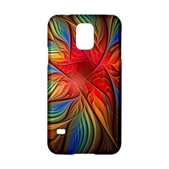 Vintage Colors Flower Petals Spiral Abstract Samsung Galaxy S5 Hardshell Case