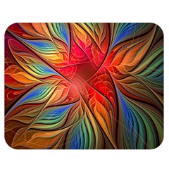 Vintage Colors Flower Petals Spiral Abstract Double Sided Flano Blanket (medium)  by BangZart