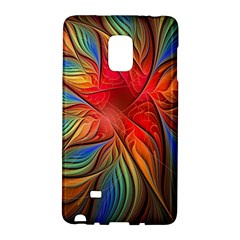 Vintage Colors Flower Petals Spiral Abstract Galaxy Note Edge by BangZart