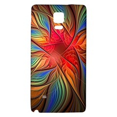 Vintage Colors Flower Petals Spiral Abstract Galaxy Note 4 Back Case by BangZart