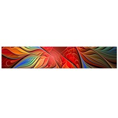 Vintage Colors Flower Petals Spiral Abstract Flano Scarf (large)