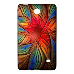 Vintage Colors Flower Petals Spiral Abstract Samsung Galaxy Tab 4 (8 ) Hardshell Case  by BangZart