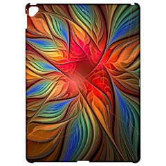 Vintage Colors Flower Petals Spiral Abstract Apple Ipad Pro 12 9   Hardshell Case