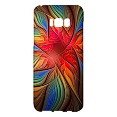 Vintage Colors Flower Petals Spiral Abstract Samsung Galaxy S8 Plus Hardshell Case