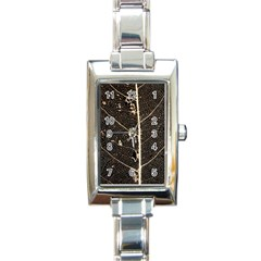 Vein Skeleton Of Leaf Rectangle Italian Charm Watch
