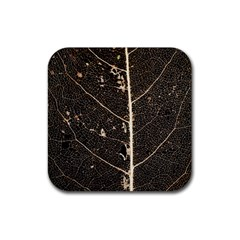 Vein Skeleton Of Leaf Rubber Coaster (square)  by BangZart