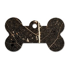 Vein Skeleton Of Leaf Dog Tag Bone (two Sides)