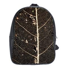Vein Skeleton Of Leaf School Bags (xl)  by BangZart