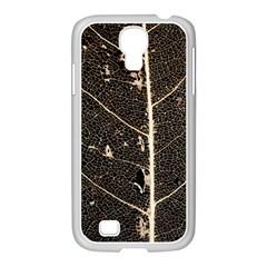 Vein Skeleton Of Leaf Samsung Galaxy S4 I9500/ I9505 Case (white) by BangZart
