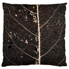 Vein Skeleton Of Leaf Large Flano Cushion Case (one Side)