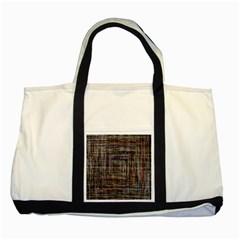 Unique Pattern Two Tone Tote Bag by BangZart