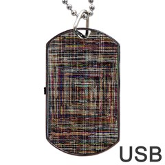 Unique Pattern Dog Tag Usb Flash (one Side) by BangZart