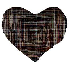Unique Pattern Large 19  Premium Heart Shape Cushions by BangZart