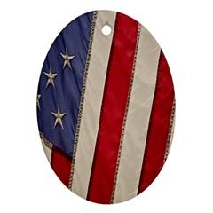 Usa Flag Ornament (oval) by BangZart