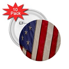 Usa Flag 2 25  Buttons (10 Pack)  by BangZart