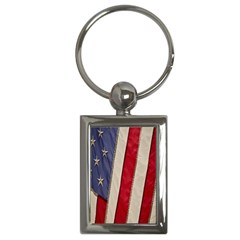 Usa Flag Key Chains (rectangle)