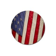 Usa Flag Magnet 3  (round)
