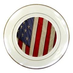 Usa Flag Porcelain Plates