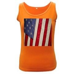 Usa Flag Women s Dark Tank Top