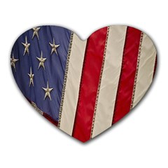 Usa Flag Heart Mousepads