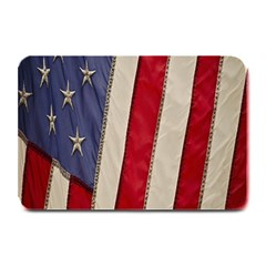Usa Flag Plate Mats by BangZart