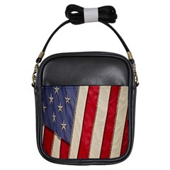 Usa Flag Girls Sling Bags