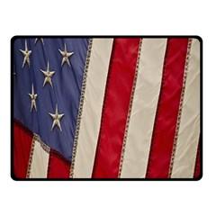 Usa Flag Fleece Blanket (small) by BangZart