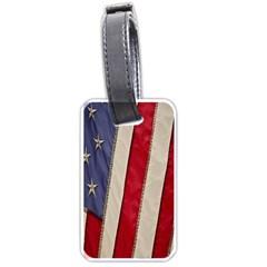 Usa Flag Luggage Tags (one Side)