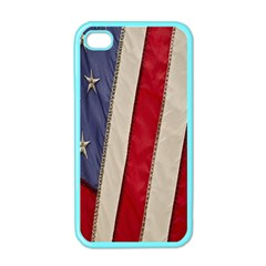 Usa Flag Apple Iphone 4 Case (color) by BangZart