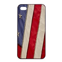 Usa Flag Apple Iphone 4/4s Seamless Case (black) by BangZart