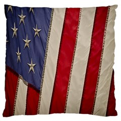 Usa Flag Large Cushion Case (one Side) by BangZart