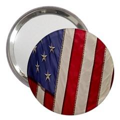 Usa Flag 3  Handbag Mirrors by BangZart