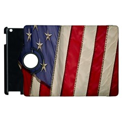 Usa Flag Apple Ipad 3/4 Flip 360 Case by BangZart