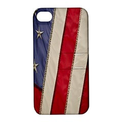 Usa Flag Apple Iphone 4/4s Hardshell Case With Stand by BangZart