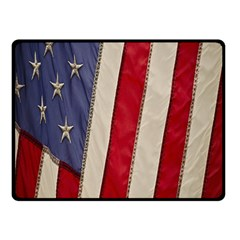 Usa Flag Double Sided Fleece Blanket (small)  by BangZart