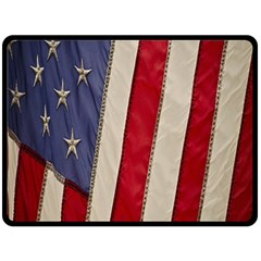 Usa Flag Double Sided Fleece Blanket (large)  by BangZart