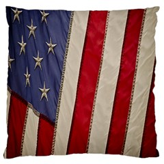 Usa Flag Large Flano Cushion Case (two Sides)