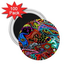 Vector Art Pattern 2 25  Magnets (100 Pack)