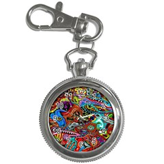 Vector Art Pattern Key Chain Watches