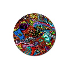 Vector Art Pattern Rubber Coaster (round)  by BangZart