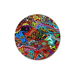 Vector Art Pattern Magnet 3  (round) by BangZart