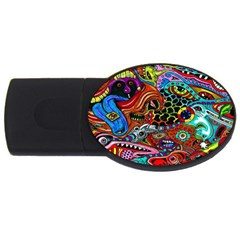 Vector Art Pattern Usb Flash Drive Oval (4 Gb) by BangZart