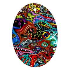 Vector Art Pattern Oval Ornament (two Sides) by BangZart