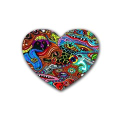 Vector Art Pattern Rubber Coaster (heart)  by BangZart